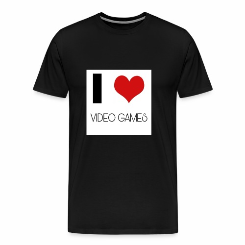 I LOVE VIDEO GAMES - Männer Premium T-Shirt