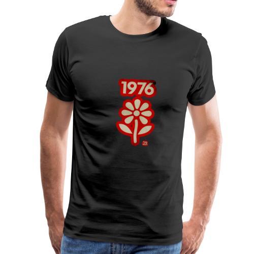 1976 withe flower vtgd - Männer Premium T-Shirt