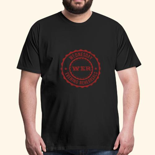 WER OFFICIAL RED - T-shirt Premium Homme