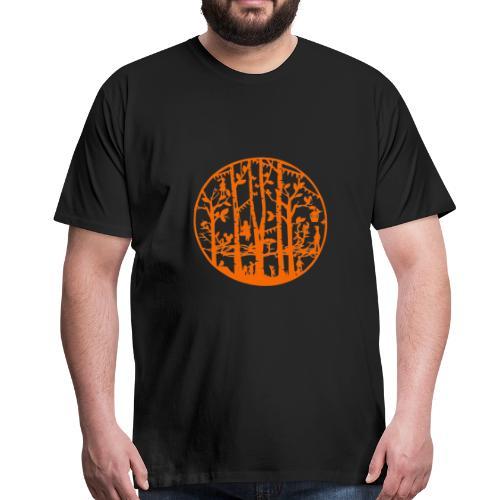 Mandala knipkunst herfst - Mannen Premium T-shirt