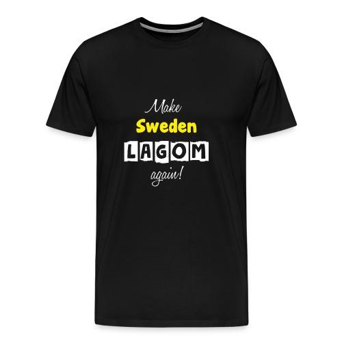 Make Sweden LAGOM again! - Premium-T-shirt herr