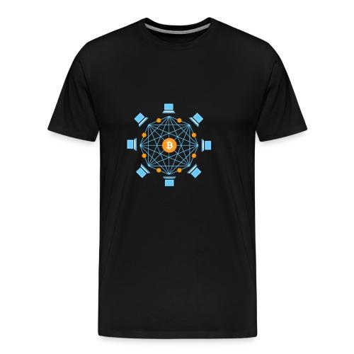 BitCoin BlockChain Verbindung - Männer Premium T-Shirt