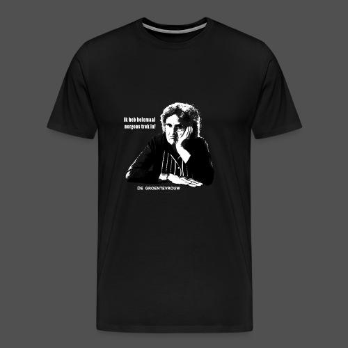 Ik heb helemaal nergens trek in! (v) - Mannen Premium T-shirt