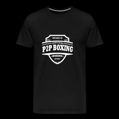 P2P Boxing White Logo - Men's Premium T-Shirt