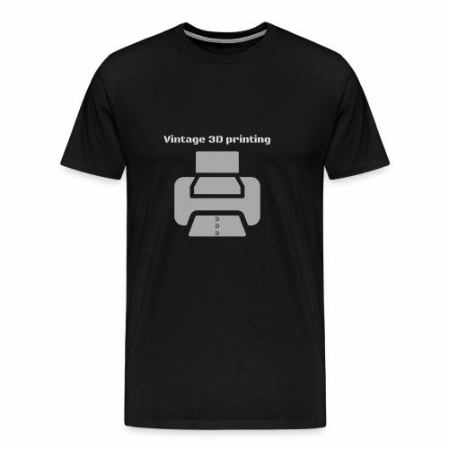 Vintage 3D printing - Männer Premium T-Shirt