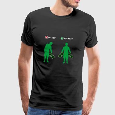 T-Shirt Geschenk - Bierkiste richtig tragen grün - Männer Premium T-Shirt