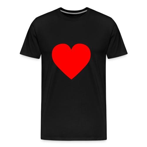Herz Rot - Männer Premium T-Shirt