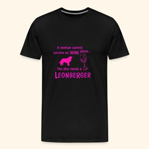 Wine&Leonberger - Premium-T-shirt herr