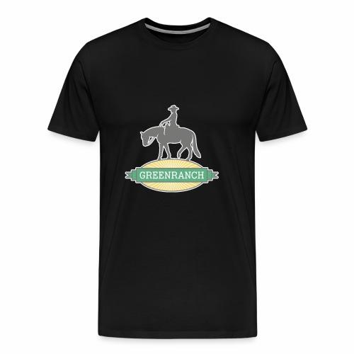Greenranch Logo mit weissem Rand - Männer Premium T-Shirt