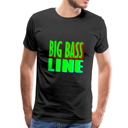 big bass line line - Men's Premium T-Shirt