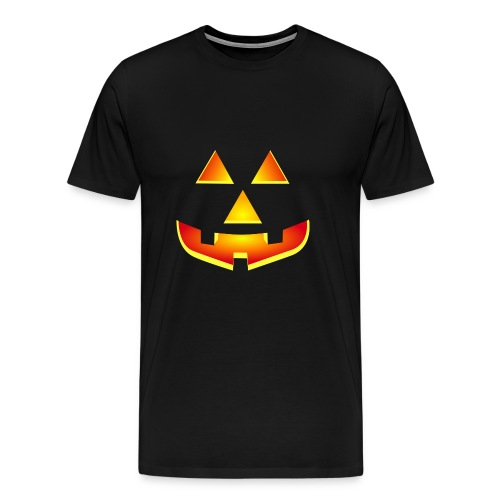 Smiling pumpkin - T Shirt, Halloween, Scary Face - Men's Premium T-Shirt