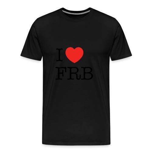 I Love FRB - Herre premium T-shirt