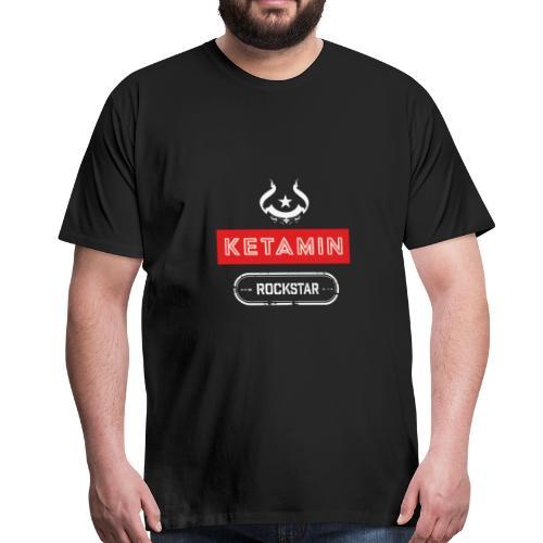 KETAMIN Rock Star - Weiß/Rot - Modern - Männer Premium T-Shirt