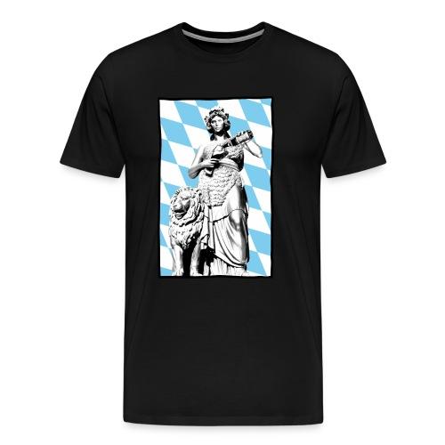 Bavaria am Weißbier schwoam - Männer Premium T-Shirt