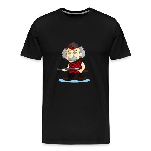 WOMENS Long Sleeve TEE REinstein Logo top left - Men's Premium T-Shirt