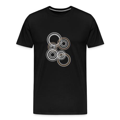 astratto cerchi grigi - Maglietta Premium da uomo
