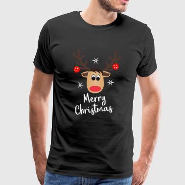 Reindeer Merry Christmas - Männer Premium T-Shirt