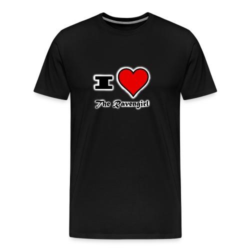 'I Love The Ravengirl' - Men's Premium T-Shirt