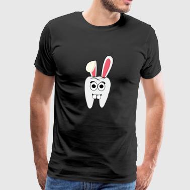 Tannlege dental hygiene dental Bunny påske gaver - Premium T-skjorte for menn