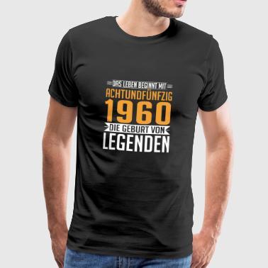 1960 58 58. Geburtstag Geschenk Legende Jahre o - Männer Premium T-Shirt
