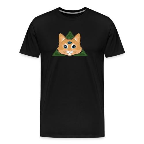 Drei Augen Katze - Männer Premium T-Shirt