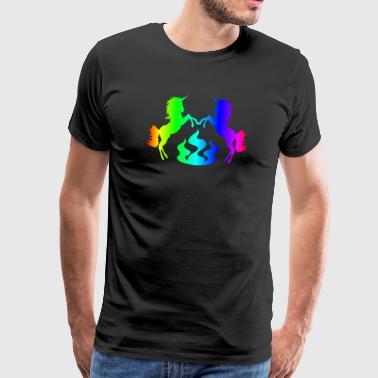 Einhorn auf Flammen / Geschenk - Männer Premium T-Shirt