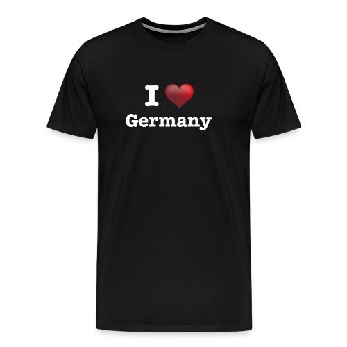 I Love Germany das Design für Deutschland Fans - Männer Premium T-Shirt