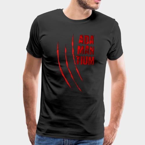 Blutige Monster Krallen Kratzer ADAMANTIUM - Männer Premium T-Shirt