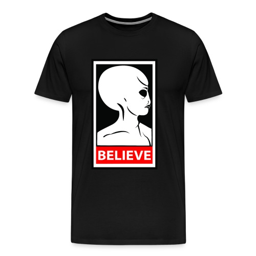 SpaceHoop - Alien Believe - T-shirt Premium Homme