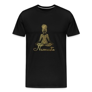 Namaste Meditation Woman - Men's Premium T-Shirt