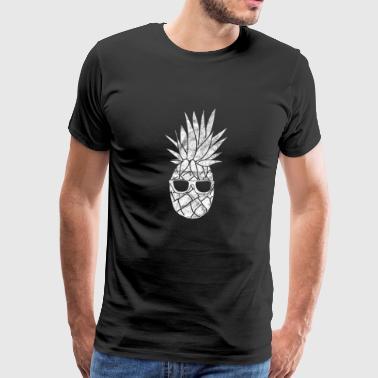 Coole Ananas Pineapple Geschenk Sonnenbrillen - Männer Premium T-Shirt