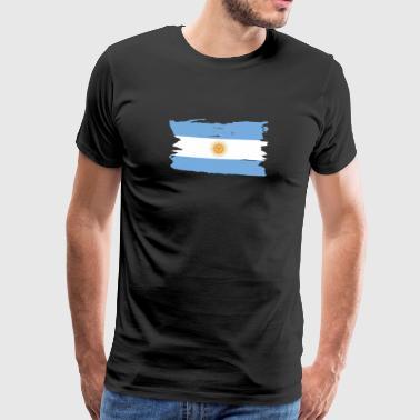 Argentina - Argentinien Flagge Shirt - Männer Premium T-Shirt