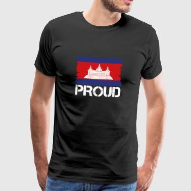Pride flag flag home origin Cambodia png - Men's Premium T-Shirt