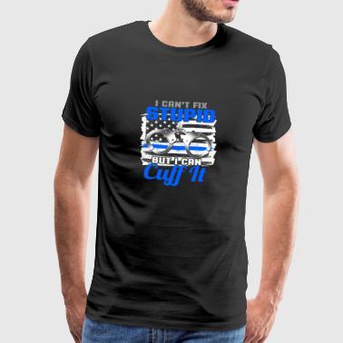 inte stoppa dumhet - polis - Premium-T-shirt herr