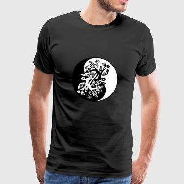 Yin Yang Tree Root Chinese Symbol Light Dark - Men's Premium T-Shirt