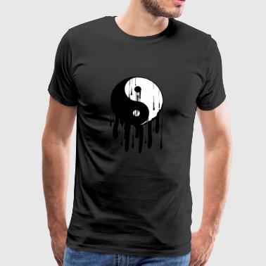 Yin Yang schmilzt chinesisches Tai Chi Symbol-Licht - Männer Premium T-Shirt