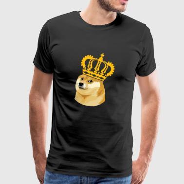 Dogecoin king - Dogecoin i stedet for Bitcoin- HODL - Herre premium T-shirt