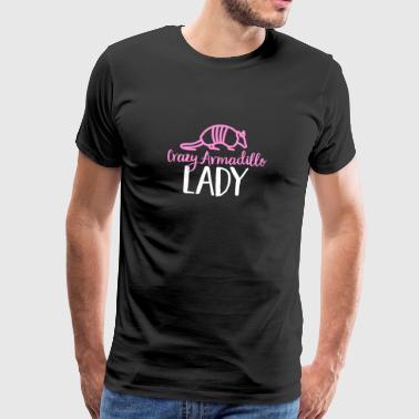Verrücktes Gürteltier-Damen-T-Shirt - niedliche Rüstungs-Muschel - Männer Premium T-Shirt