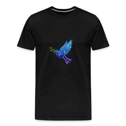 Niedlich Lustig Süß Taube mit Zweig FriedenT-Shirt - Männer Premium T-Shirt