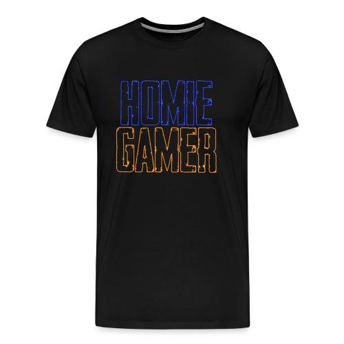 Hømie Gamer Klær (Neon Stil) - Premium T-skjorte for menn