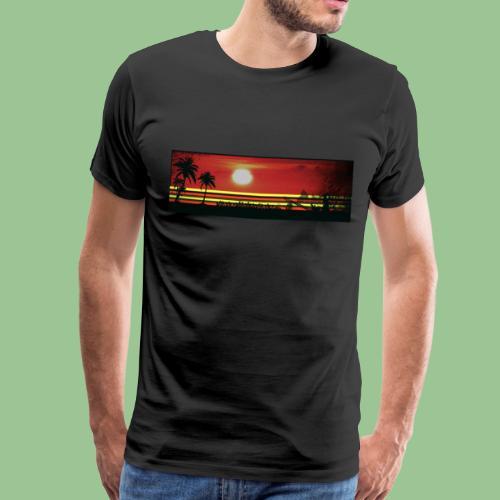 Sunset Art Fun-Shirt - Männer Premium T-Shirt