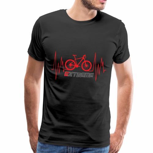 Extreme Biker- Mountainbike mit Herzlinie - Männer Premium T-Shirt