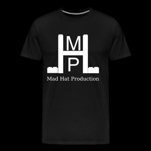 Mad Hat Logo | Weiß - Männer Premium T-Shirt