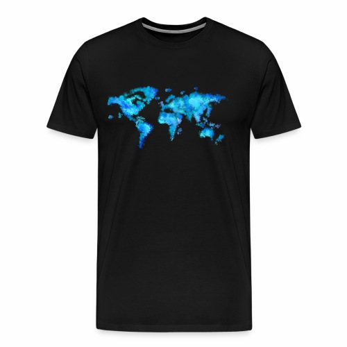 Weltkarte Aquarell - Männer Premium T-Shirt