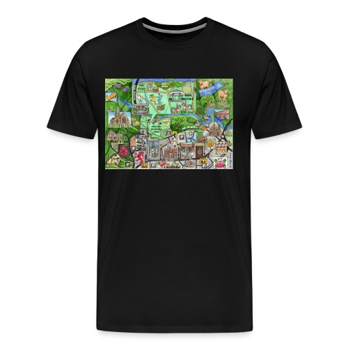 Staycation Live map - Men's Premium T-Shirt