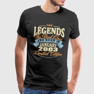 De vraies légendes sont nées en janvier 2003 - T-shirt Premium Homme
