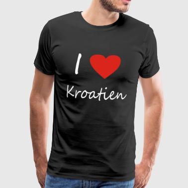 Kroatia Hjerte gaveide - Premium T-skjorte for menn