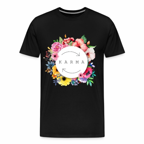 FLowerkarma - Maglietta Premium da uomo