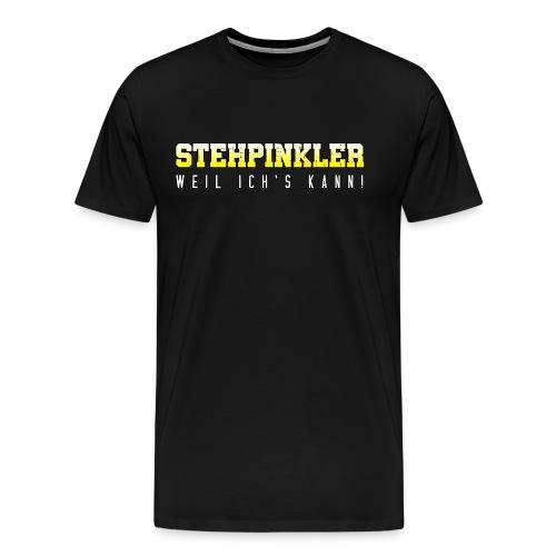 Stehpinkler Mann stolz lustige Sprüche Geschenk - Männer Premium T-Shirt