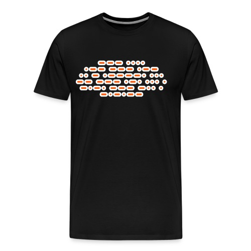 OH WOW IT'S MORSE CODE! (orange/white) - Men's Premium T-Shirt